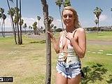 Teen Victoria Steffanie rides dick on a public boat rental