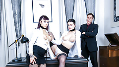 LETSDOEIT - German Lesbians Fuck In Front Of Their Boss