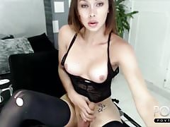 Big cock cute tranny black lingerie