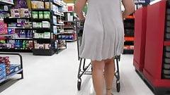 PAWG GILF wearing skimpy see-thru dress