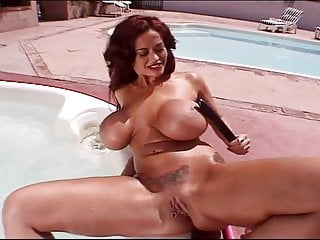 Preview 6 of Big Boobed Donita Dunes Plays With A Big Black Dildo