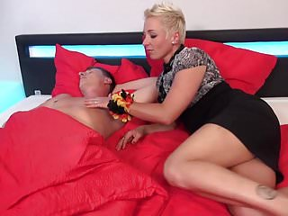 German Mom Mandy Mystery Wakes Up Son With Blowjob