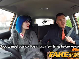 Preview 1 of Fake Driving School Sexy emo gets her ass pounded