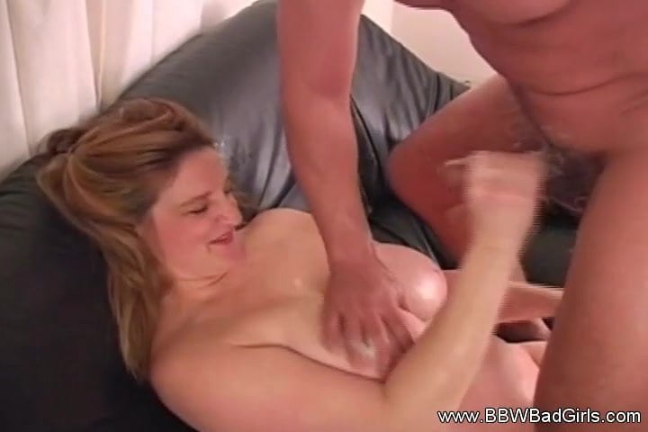 Handjob And Titjob From BBW Redhead
