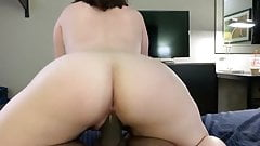Reverse Booty Rocking on Black cock