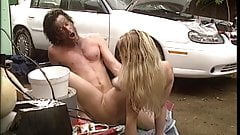 Hot chick gets her pussy pounded