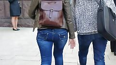 Woman with round ass