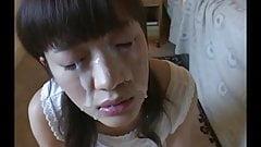 What japanese girl cum shot