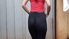 Sexy Ass in black leggings