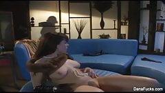 Dana gets dildo fucked