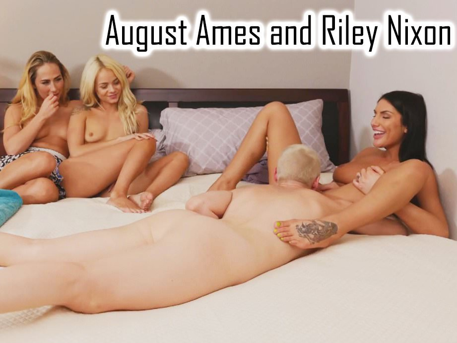 August ames and riley nixon eating pussy
