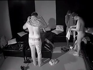 Couples have sex in darkroom