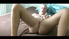 Blonde German Goddess Masturbates