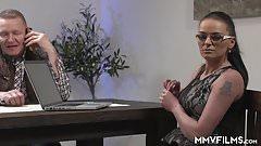 Horny Milf Secretary shags her boss