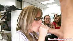 My gf sucking strippers cock at office party