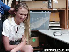 Hot blonde Alyssa Cole getting her pussy crammed hard