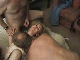 Sexy British Milf Enjoying A Gangbang Cp