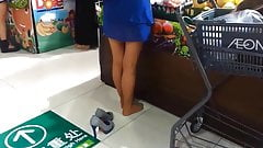 Candid Asian Nylons Feet & Legs at Market Pantyhose