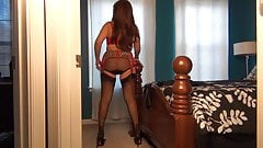 Red Hot Lingerie Lady Samantha Legs