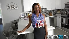 PropertySex - Busty agent with amazing natural tits fucking