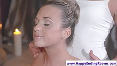 European massage babe fingering dyke client