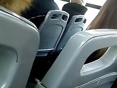 Spy nylon legs in public bus 2