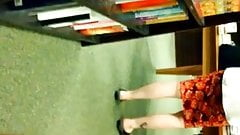 Candid Mature in Sandals at Bookstore Feet Legs Toes