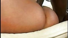 A black slut with a nice round ass gets turned around and ass banged