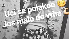 Kristina twerking Serbian teen