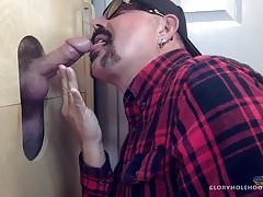 Hot Daddy Sucked At The Gloryhole