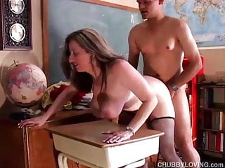 Super sexy chubby honey enjoys a sticky facial cumshot