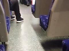 Stockings on train