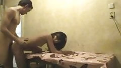 Amateur petite asian kazakh teen girl and Russian guy