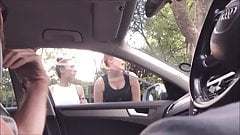 Dickflash 2 sexy teens giving directions