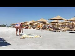 Spy beach sexy ass bikini woman romanian