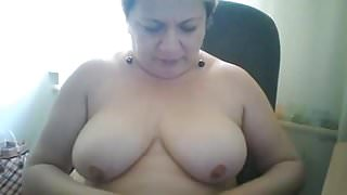 Hot 53 yo Russian mature Elena play on skype