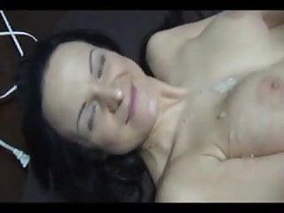 Nice Short Vid with Brunette Covered in Spunk. enjoy