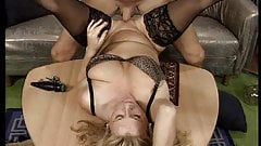 Hot German Big Saggy MILF Stockings Anal