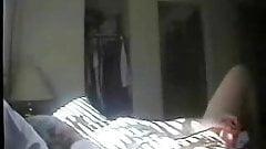 Every day my mom masturbates on bed. Hidden cam