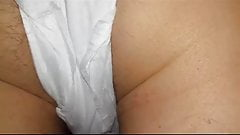 Hairy Milf's Ass in Menstruation Pad - Non Nude