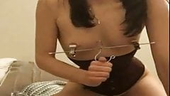 (gif) wonderful self treatment slavegirl