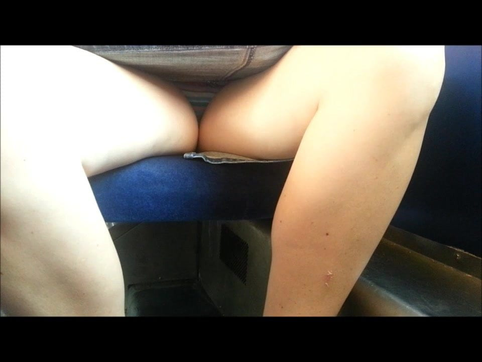 Upskirt porn vid on train