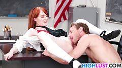 Redhead schoolgirl Krystal Orchid gets fucked