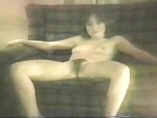 80s girl strips in living room