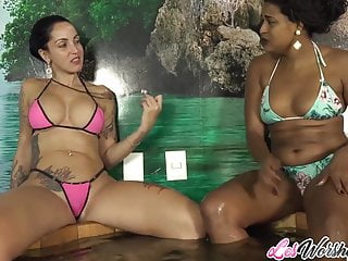 Elisa Sanches and Debora Blue lesbo sex