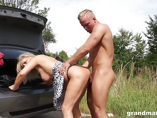 Horny old slut Mia gets an extra long dick GrandMams.com