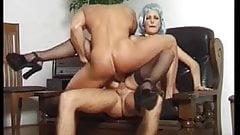 Asia D'Argento black stockings sex 2