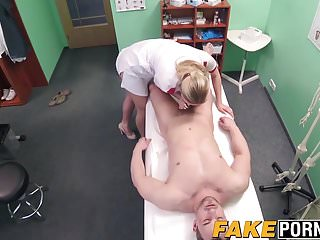 Sexy ass blonde nurse Nikky with big tits fucked hard