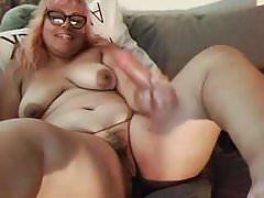 bbw masturbating solo