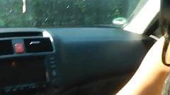 Deutscher Blowjob im Auto